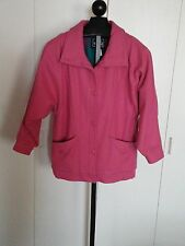 GORGEOUS WOOLRICH LADIES PINK WOOL JACKET-M-BARELY WORN-LINING 85% WOOL-GREAT