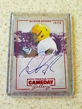 2013 Press Pass Da'Rick Rodgers Red Parallel Auto serial #18/50 Rookie Card