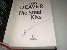 JEFFERY DEAVER - The Steel Kiss SIGNED 1/1 Hb - 2016 - LINCOLN RHYME book 12