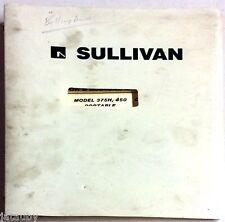 Sullivan Operator'S Manual And Parts List Model 375H 450 Portable Compressor