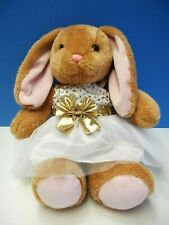 "15"" Build-A-Bear Extra Soft Tan Bunny in Easter Dress"