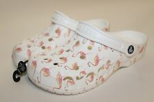 NEW CROCS BAYA Flamingo Print Clogs Slip On Shoes Sandals :: Womens Size 8