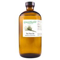 16 fl oz Tea Tree Essential Oil (100% Pure & Natural) Amber Glass Bottle