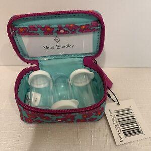 NWT Vera Bradley Every Little Thing Travel Pill Case Ditsy Dot 3 bottles NWT