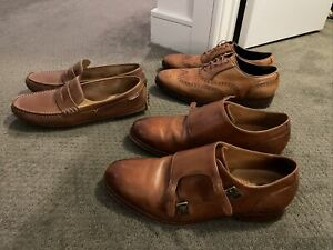 Lot of 3 pairs of brown Cole Haan Shoes 11D Men's Leather