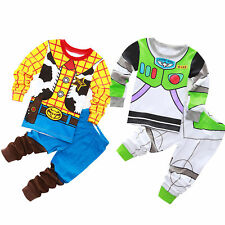 Kids Childs DISNEY TOY STORY WOODY BUZZ LIGHTYEAR Boys Pyjamas Set 2-12 yrs