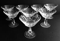 """WATERFORD Rosslare Pattern Set of 8 Champagne Tall Sherbet Glasses 4 3/4"""""""
