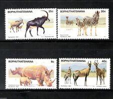 Bophuthatswana 1983 Nature Reserve Rihno Wildlife Animals Sc 100-103 MNH # 5128
