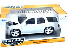 JADA 97300 BIGTIME 2010 10 CHEVROLET TAHOE SUV 1/24 DIECAST MODEL CAR WHITE