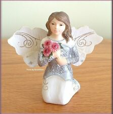 """JANUARY MONTHLY ANGEL FIGURINE 3"""" HIGH BY PAVILION ELEMENTS FREE U.S. SHIPPING"""
