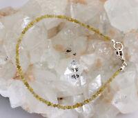 Roh Diamant Armband Edelsteinarmband Gelb Rohdiamant 925 Silber Karabine 18,5 cm