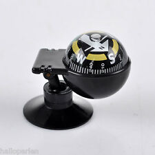 New Car Vehicle Floating Ball Magnetic Navigation Compass Black