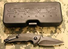 Brous CALIBER Flipper Knife Acid Stonewash D2 Carbon Fiber 500 Made CHOICE S/N