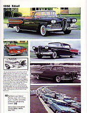 1958 Ford Edsel Article - Must See !! - includes Citation, Bermuda, Pacer
