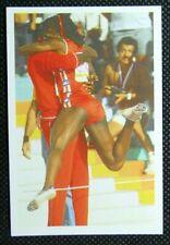 1 x card BBC Question of Sport 1986 Val Brisco-Hooks USA Athlete
