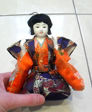 Muñeca Japonesa Hina-Macho-Vintage 14cm-Coleccionable-Hecho en Japón