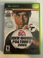 TIGER WOODS PGA TOUR 2005 - XBOX - MISSING MANUAL - FREE S/H - (T9)