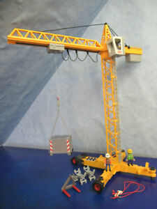 TOP 3262 elektrischer Baukran Kran zu Bau mit 6 Funktionen Playmobil 5411