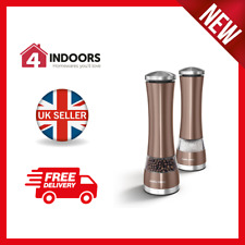 Morphy Richards Accents 974235 Electronic Salt & Pepper Mills Copper - Brand New