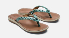 Olukai Kahiko Sea/Tan Flip Flop Comfort Sandal Women's sizes 5-11/NEW