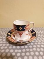 Royal Albert Crown China Coffee Cup And Saucer