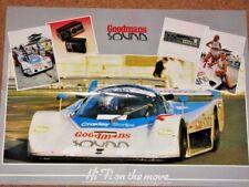GROUP C2 BARDON DB1 SPORTSCAR POSTER 1986 - Adams/Jones/Donovan (Arundel C200)