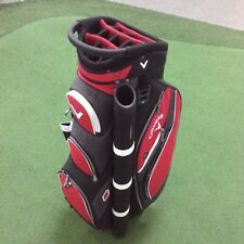 Callaway FORRESTER 2.0 Deluxe Cart Bag - LOADED WITH FEATURES - Red/Blk/White