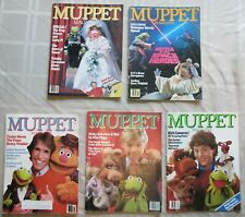 Lot of 5 1980s Muppet Magazines
