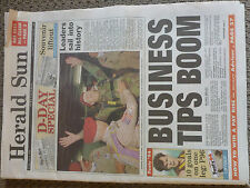 HISTORICAL NEWSPAPER Herald Sun D-Day special Souvenir Liftout 50 years 6-6-1994