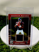 DESHAUN WATSON ROOKIE THREADS 2017 Optic Jersey Patch Free Shipping Look Invest
