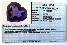 Four 7mm Heart Natural Brazilian Amethyst Cabochon Cab Gem Gemstone EBS8011