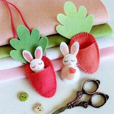BITTY BUNNIES - Sewing Craft A5 Creative Card PATTERN - Easter