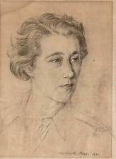 HUBERT ANDREW FREETH Pastel Drawing FEMALE PORTRAIT 1941