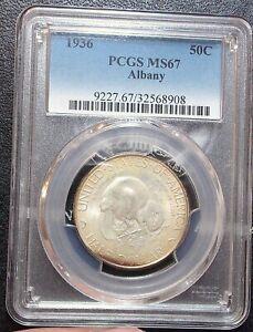 1936 PCGS MS67 Albany New York Commemorative Commem Registry Level