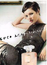 Publicité Advertising 2002 Parfum Coco mademoiselle Chanel avec Kate Moss
