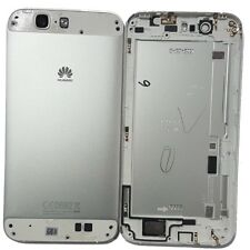 Genuine Original Back Plate Metal For Huawei Ascend G7 - White Silver