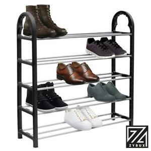 5 Tier Shoe Stand Storage Organiser Rack Lightweight Compact Space Save Shelf