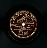 1944 GLENN MILLER  78  RHAPSODY IN BLUE / CARRIBEAN CLIPPER  UK HMV BD 5833 E/E+