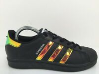 Adidas Superstar S75942 Black Leather Sports Trainers Women Size UK 5 Eur 38