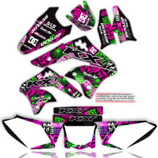 2003 - 2008 KX 125 250 GRAPHICS KIT NIGHTRIDER: MAGENTA / GREEN 21 MIL STICKERS