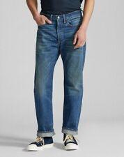 Polo Ralph Lauren RRL Men Vintage 5 Pocket Grandfalls Wash Selvedge Jeans 32x32