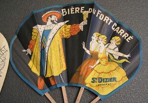 Éventail Publicitaire Tour de France Bière du Fort Carré St DIZIER Pub Brasserie