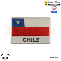 CHILE National Flag With Name Embroidered Iron On Sew On PatchBadge