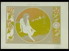 FEMME, ART NOUVEAU -1910- LITHOGRAPHIE, GRANDI