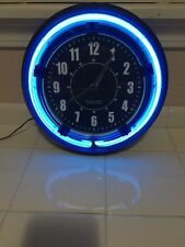 STERLING & NOBLE BLUE NEON WALL CLOCK
