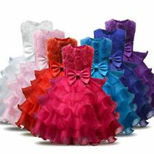 Chiffon Sleeveless Dresses for Girls Tutu Dress