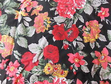 Estate Fabric Vintage Anne Erde Floral Flower Shabby Cottage Garden BTY Quilt