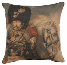 French Tapestry Decorative Throw Pillow Cushion Cover 19x19 Officer of The Guard