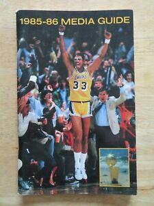 1985-86 LOS ANGELES LAKERS Media Guide KAREEM ABDUL-JABBAR MAGIC JOHNSON WORTHY