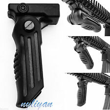 Folding Foregrip Hand Vertical Fore Grip 20mm Picatinny Weaver Rail 4 Rifle Gun